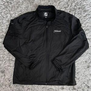 Footjoy Dryjoys Titleist Tour Collection Men's Black Full Zip Golf Jacket Large