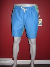 HOBIE by HURLEY Men's Aqua / Blue Coaster Swim Trunks - Size Large - NWT $60