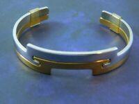 Vintage AVON Cuff Bangle Bracelet Set Interchangeable Gold Tone Silver Tone