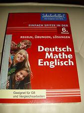 SCHÜLERHILFE 6 KLASSE DEUTSCH MATHE ENGLISCH REGELN ÜBUNGEN LÖSUNGEN BUCH