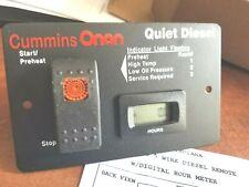 Onan Diesel Silent Remote Start Switch Amp Digital Hour Meter Quiet 12v Panel