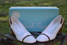 Brand New Vintage 60'S Jack Rogers Tortoise Heel Pumps Size 6M With Original Box