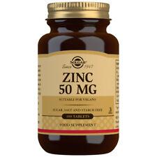 Solgar Zinc 50mg 100 tablets