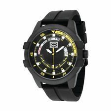 Marc Ecko Black Rhino Men's The E-GO E12583G3 Black / Yellow Dial Analog Watch