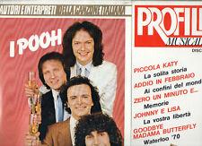 POOH  disco LP 33 giri  PROFILI MUSICALI con INSERTO made in ITALY   sigillato