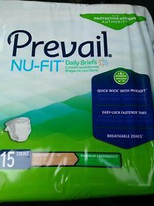 NU-FIT Prevail Adult Diapers Briefs Extra Absorbent 15 X-Large 59x64in