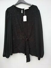 Oasis black  long sleeve top, size L,  BNWT