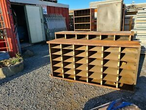 Metal Pigeon Hole Storage Shelf Industrial Compartments
