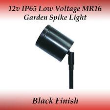 IP65 Rated LED Compatible 12 Volt Outdoor Adjustable Black Spike Light