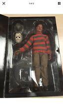 "Sideshow Collectibles #7306 Freddy Vs Jason Krueger 12"" Action Figure worn box"
