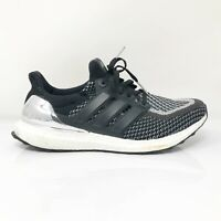 Adidas Mens UltraBoost BB4077 White Black Running Shoes Lace Up Low Top Size 8.5