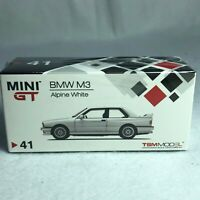 1/64 TSM MINI GT BMW M3 E30 Alpine White RHD AMGT00041-R