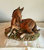 "Vintage Masterpiece Porcelain ""HORSE""  Colt Foal Figurine by HOMCO *1982  EUC"