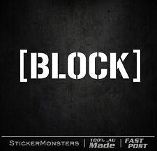 BLOCK DECAL HOONIGAN  Ken Block DC #43 Stickers 2X 60mmW V8 Pony 351 Mach1