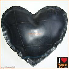 Cushion - heart shaped - eco rubber – recycled  rubber - rubber jewellery