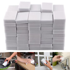 100PCS Magic Sponge Eraser Cleaning Melamine Multi-functional Foam Cleaner White