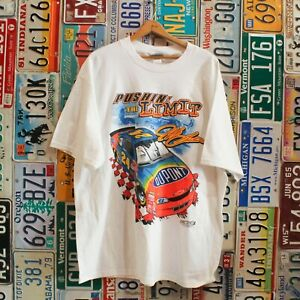 Vtg 90s Deadstock NWT Jeff Gordon Dupont Pushin' The Limit Nascar Tee T Shirt XL