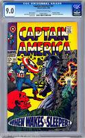 CAPTAIN AMERICA #101 CGC 9.0 PREMIERE SILVER AGE CAP STAN LEE & JACK KIRBY 1968