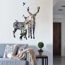 DEER FOREST Décalques Mur Autocollants Amovible Art Mural Vinyle À faire soi-même Home UK 109