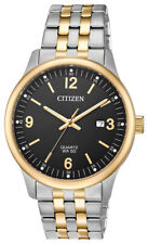 Citizen Men's Quartz Calendar Date Black Dial Two-Tone 40mm Watch BI1054-80F