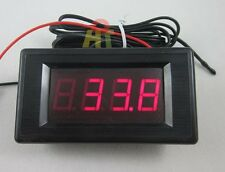 Red LED DC12V Digital Thermometer With Probe -60~125C High Low Temperature Alarm