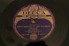 """78 RPM 10"""": Lita Roza - That Doggie In The Window - Decca Records F 10070"""