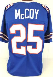 LeSean McCoy Unsigned Custom Sewn Blue Football Jersey Size - L, XL, 2XL