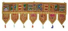 Antique Style Embroidered Valance Window Door Topper Hanging Decorative Toran