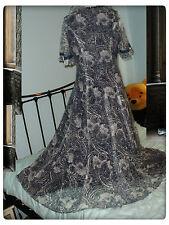 liberty dress 16/vintage 1970/maxi victorian edwardian styled
