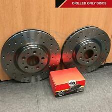 FOR LEXUS LS400 PERFORMANCE FRONT DRILLED BRAKE DISCS MINTEX PADS 315mm
