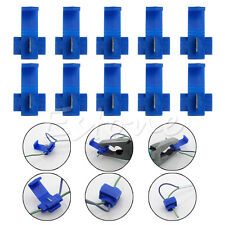 New 10pcs Blue Electrical Cable Connector Quick Splice Lock Wire Terminals Crimp