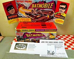 Corgi Toys Batman &Robin Batmobile 267 Reproduction Box+Inner Display Stand
