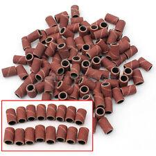 100 Scovolini Abrasivi Fresa Lima Fine Ricostruzione Unghie Ricambio Nail Art