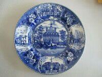 Vintage Williamsburg Virginia Governor's  Old English Staffordshire Plate