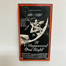 Vhs Movie - It Happened One Night (1934 - Clark Gable) - Free Shipping