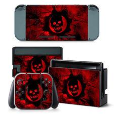 Nintendo Switch Skin Design foils STICKER PROTECTOR SET - Red Skull Motif