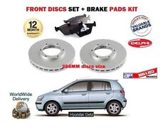 FOR HYUNDAI GETZ 1.1i 1.3i 1.4 02-2011 FRONT Brake Discs 256mm VENTED + PADS SET