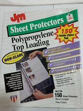 Usa Made Top Loading Sheet Protectors 85 11 150 Pack Clear Archival 3 Hole