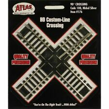 Atlas 176 HO Scale Code 100 90 Degree Track Crossing Section