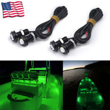 4x Green LED Boat Light Waterproof 12v Deck Storage Bow Stern PlayCraft Daytona