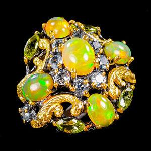 8x6mm Beauty Rainbow Opal Ring Silver 925 Sterling  Size 8.75 /R151464