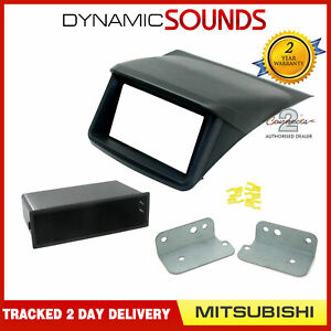 Car Double Din Fascia Panel Black for Mitsubishi L200, Sportero, Strada, Triton