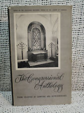 old poetry book  THE CONGRESSIONAL ANTHOLOGY selected  Senators representatives