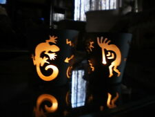 Partylite Kokopelli and Lizard Tealight Holders Set of 2 Party Lite Southwest