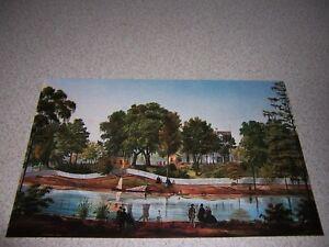 1861 SHADOWS-on-the-TECHE NEW IBERIA LOUISIANA ART POSTCARD by ADRIEN PERSAC