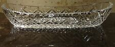 VINTAGE WATERFORD CRYSTAL CELERY BOAT DISH ~ EXCELLENT