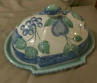 Nancy Calhoun serving platter/tray with lid, Moonlight ceramic, made in Portugal