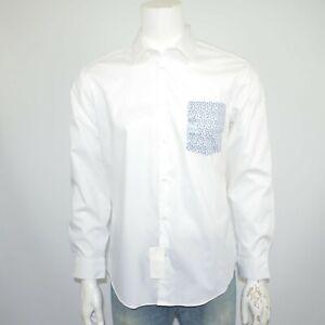 NWT CALVIN KLEIN X Extreme Slim Fit Stretch Cotton White Dress Shirt 16.5 32/33