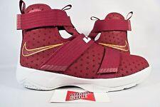 NEW Nike LeBron Soldier X 10 GS TEAM RED MAROON BURGUNDY 845121-668 sz 7Y