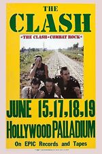 The Clash * Combat Rock * Promotional Poster Hollywood Palladium 1982  13x19